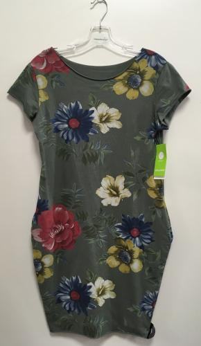 960d13e64ddb Dámske športové kvetinové šaty s krátkym rukávom