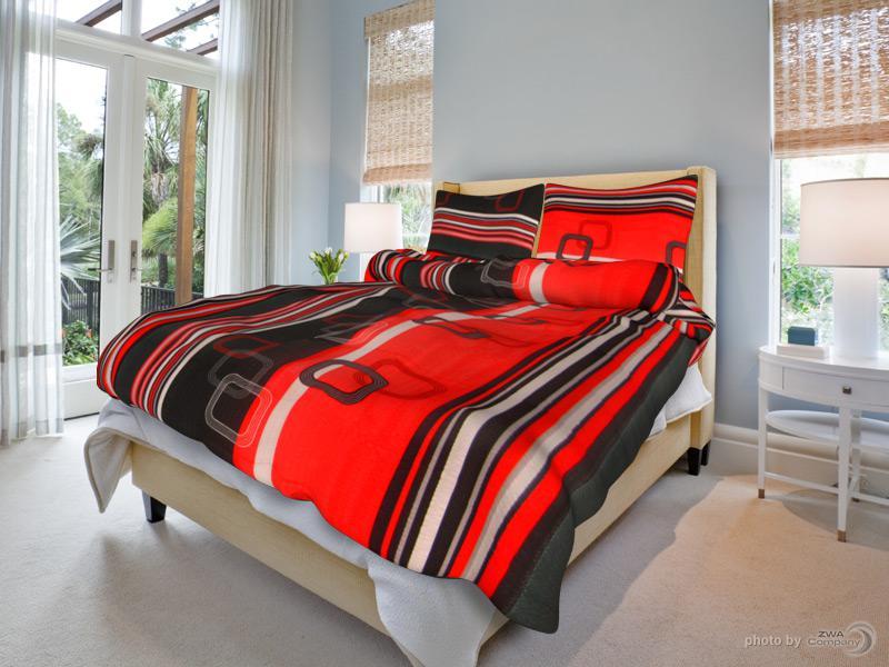 6767942e4a945 Holey Quilt obliečky Bavlna Ondrej červený 140x200, 70x90cm ...
